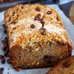 Banana Chocolate Chip Cake with Oatmeal Crumbs