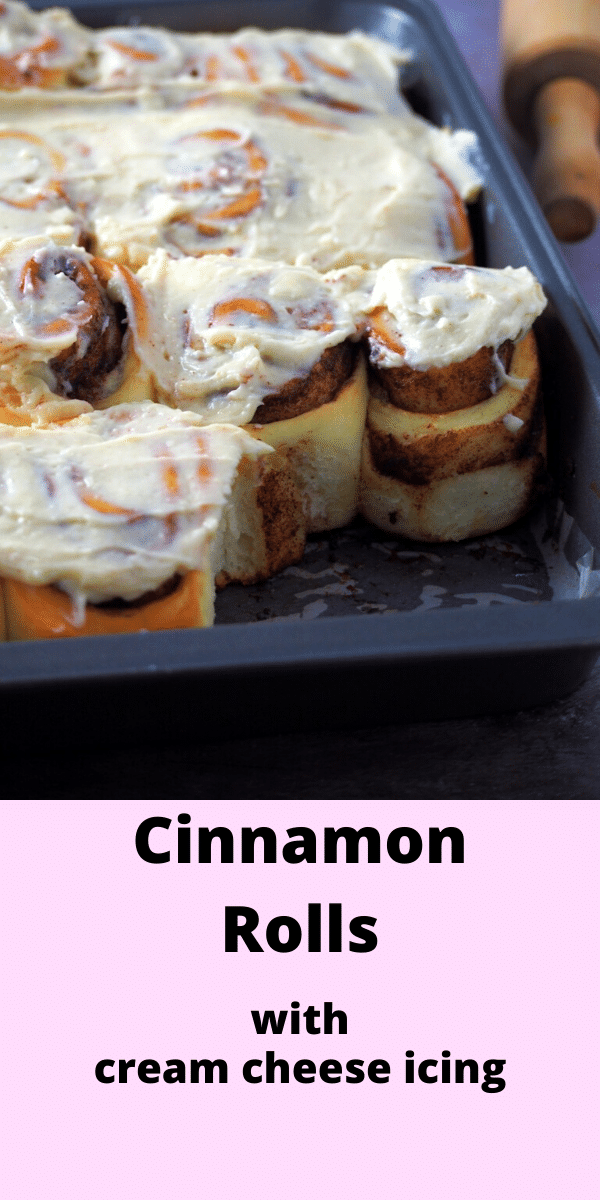 There is nothing like homemade soft and sweet cinnamon rolls slathered with a delightful cream cheese icing to start or end your day. #cinnamonbuns #cinnamonrolls #sweetbread | Woman Scribbles