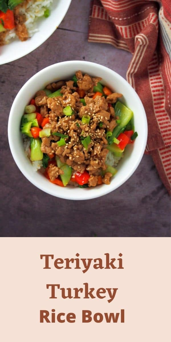 Teriyaki Turkey Rice Bowl is a delicious medley of tender-crisp vegetables, saucy meat and tasty rice all in one flavorful bowl. #teriyaki #turkey #hellofresh