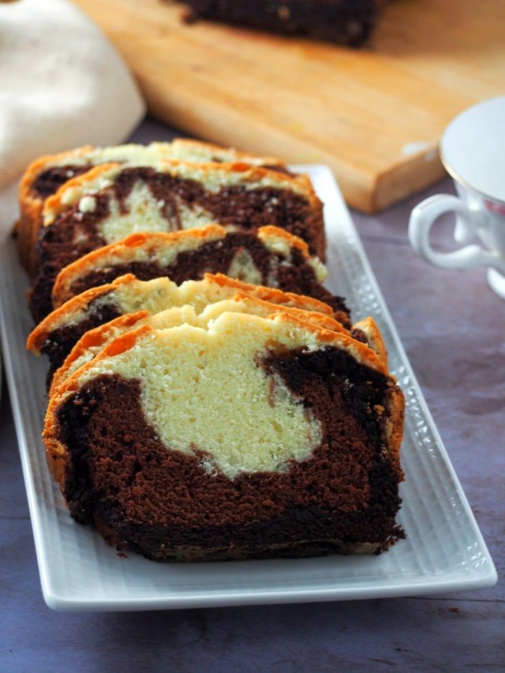 Chocolate Ombre Pound Cake