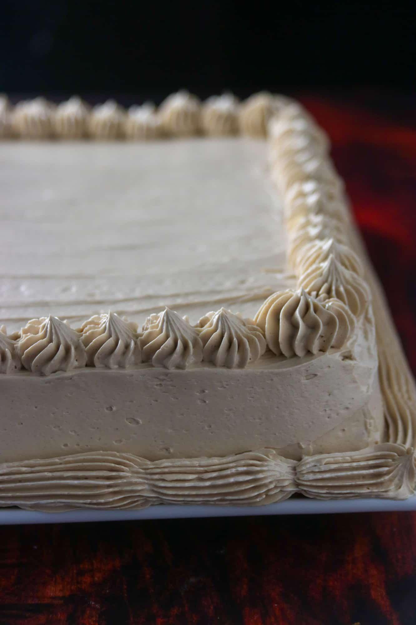 close up shot of mocha cake